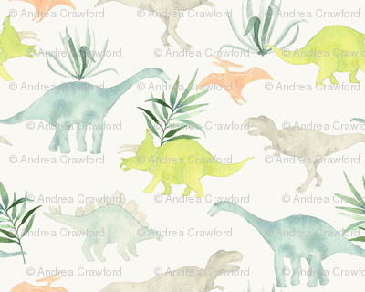 Dinos with leaves tan