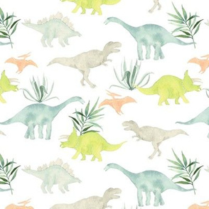 Dinos with leaves white