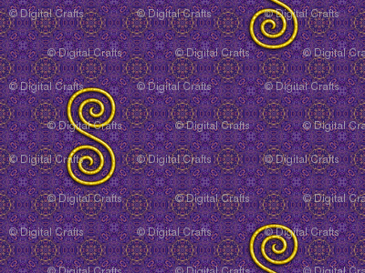 Golden Spiral on Purple Pattern
