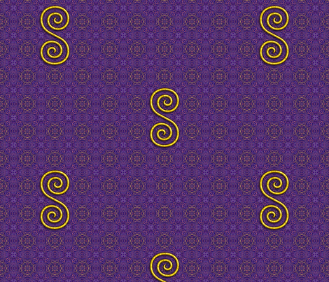 Golden Spiral on Purple Pattern fabric by digital_crafts on Spoonflower - custom fabric