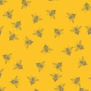 Grey Bee Scatter medium