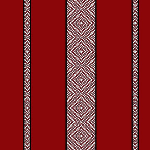 Boho Big Red-Stripe