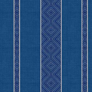 Boho Blu-Stripe