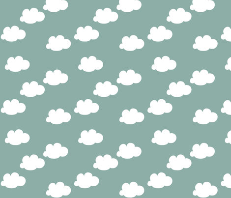 Clouds fabric by autumndesign on Spoonflower - custom fabric