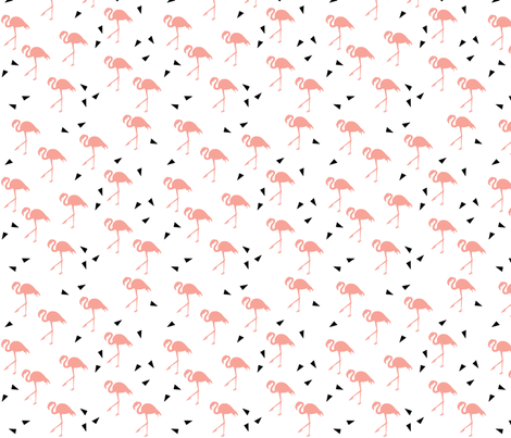 Flamingo fabric by autumndesign on Spoonflower - custom fabric
