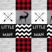 Little Man Wholecloth - Chevron