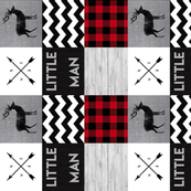 Little Man Wholecloth - Chevron - Rotated