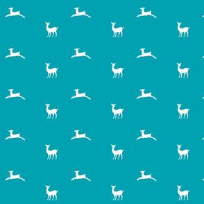 Deer 2 - MED58 turquoise white