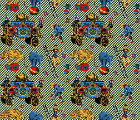 Antique Circus fabric by enid_a on Spoonflower - custom fabric