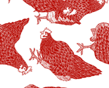 Fabric_design_-_sorted_hen_-_new_red_-_rotated_version_thumb