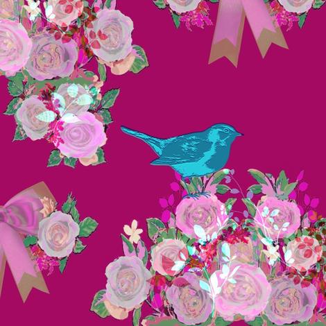 Blue Bird fabric by lizzystitch_-_j_scanlon on Spoonflower - custom fabric