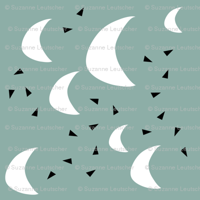 Moon and triangles