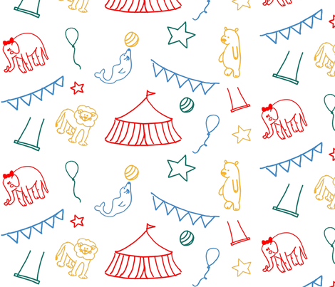 vintage_circus_COLOR fabric by lapetitepineapple on Spoonflower - custom fabric