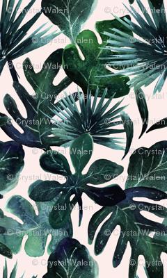 tropical Leaves Blush - Medium