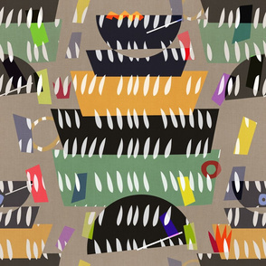 Matisse Cutouts . Fancy Fiesta Bowls