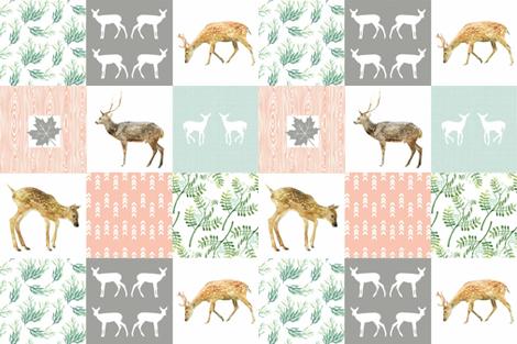 "WOODLANDS PETAL PINK 4.5"" fabric by moosedesigncompany on Spoonflower - custom fabric"