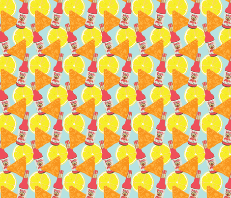 Chips Lemon and Chili fabric by crystaldomi on Spoonflower - custom fabric