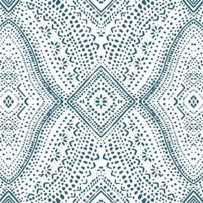 Navy Tribal Dot