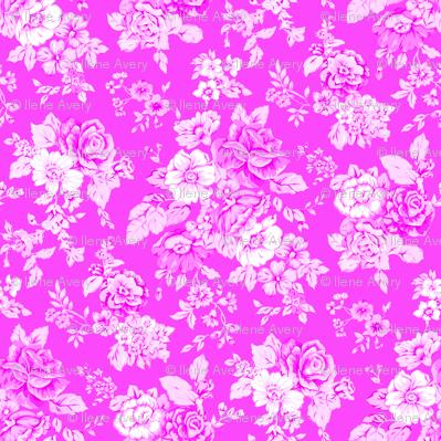 Large Floral on Pink