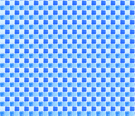 Blue Pool Tiles fabric by eileenmckenna on Spoonflower - custom fabric