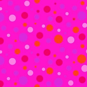 Multi-color dots on Pink