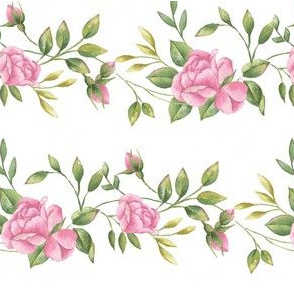 Rose Border in Pink