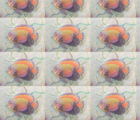 Fish pattern fabric daniellehickie spoonflower for Fish pattern fabric