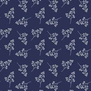 Indigo Flower Pattern