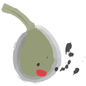 Olive on white 12x12