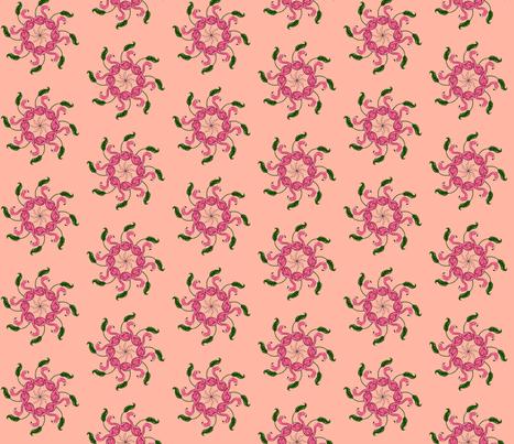 Peach Flamigo bird  fabric by the_french_girl on Spoonflower - custom fabric