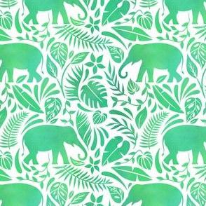 elephants in green