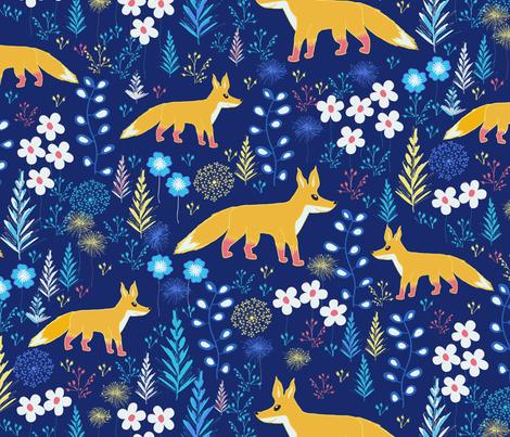 Boys room fox fabric jill o connor spoonflower for Fabric for boys room
