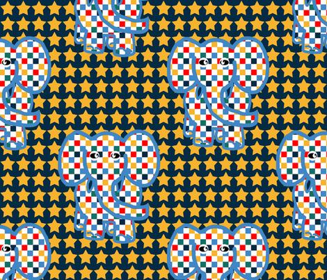 Circus Elephants 3 fabric by anniedeb on Spoonflower - custom fabric