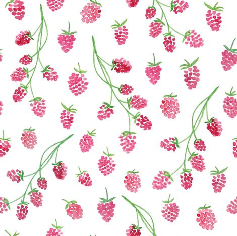 Raspberries - L fabric by amandagomes on Spoonflower - custom fabric