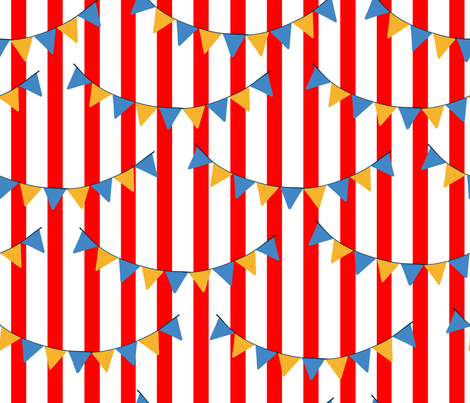 Retro Circus Bunting fabric by themadcraftduckie on Spoonflower - custom fabric