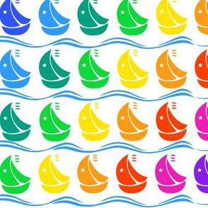 Rainbow Sailboats
