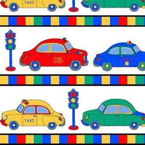 Cars Stripe on White