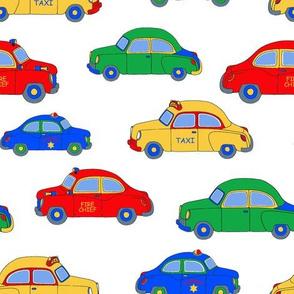 Cars on White