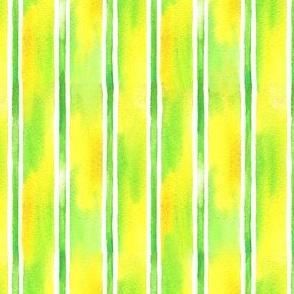 Watercolor Lemon Stripe