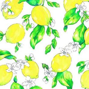 Watercolor Lemons