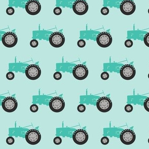 tractor - teal