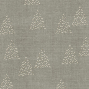 Desert Mudcloth . Pinon Pines Sage Gray