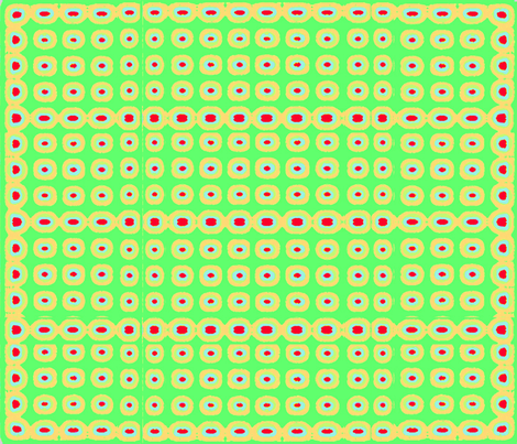 GREEN_CIRCLES_-ONE fabric by soobloo on Spoonflower - custom fabric