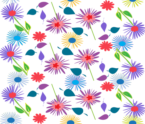 FLOWERS_281-01 fabric by soobloo on Spoonflower - custom fabric