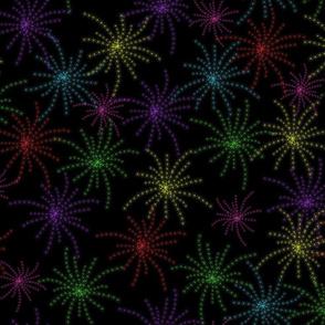 Starburst Fireworks Night Sky