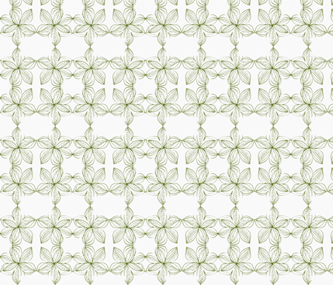 Flower-l-olive fabric by unclemamma on Spoonflower - custom fabric