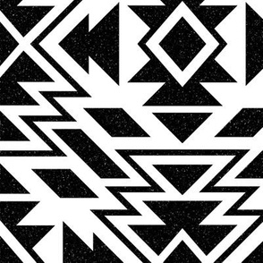 SouthWestern large Tribal B+W