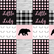 Little lady pink bear wholecloth