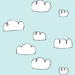 clouds bright pale blue