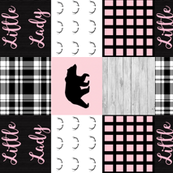 Little lady pink bear wholecloth rotated
